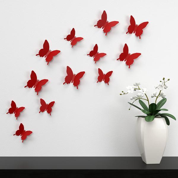 metalowe motyle na ścianę